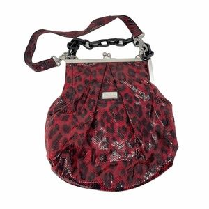Kate Landry Kiss-lock Closure Purse Red Black Bag